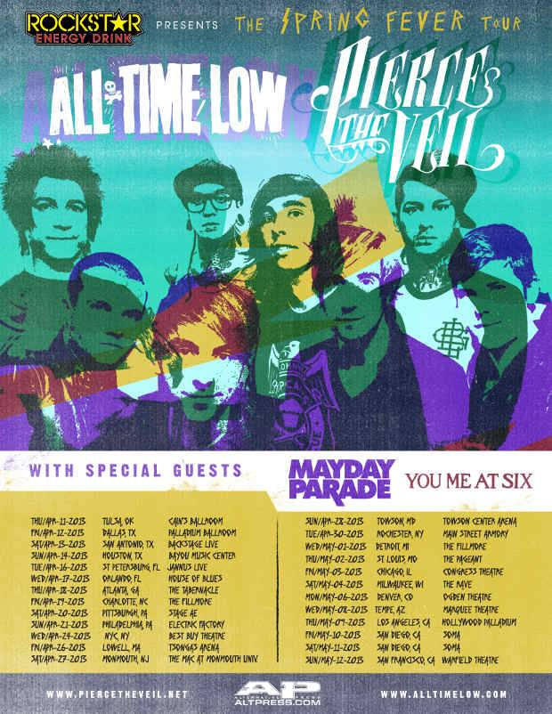 All time low tour dates