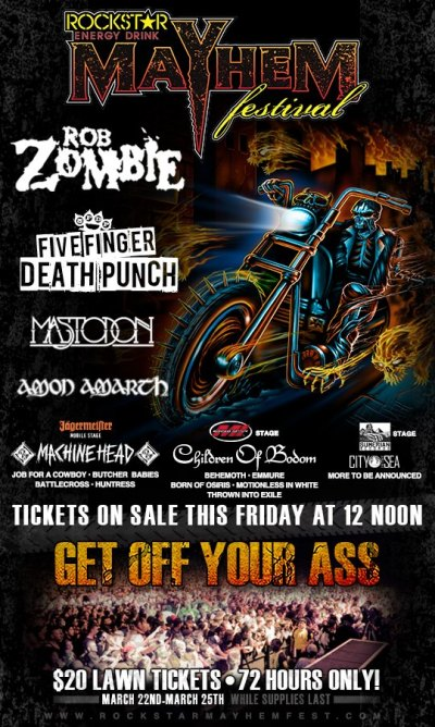 Rockstar Mayhem Festival 2013 Bands and Lineup
