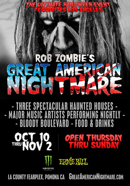 Rob Zombie to Headline Great American Nightmare